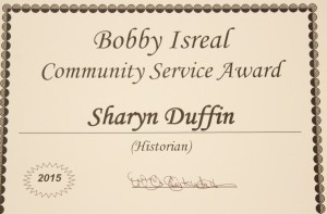 Another Award for Sharyn Duffin. Photo Niyi Fote