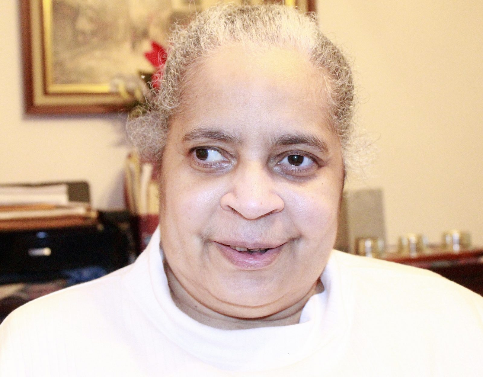 Sharyn Duffin, an Unemployed blind volunteer of Rockville-Maryland