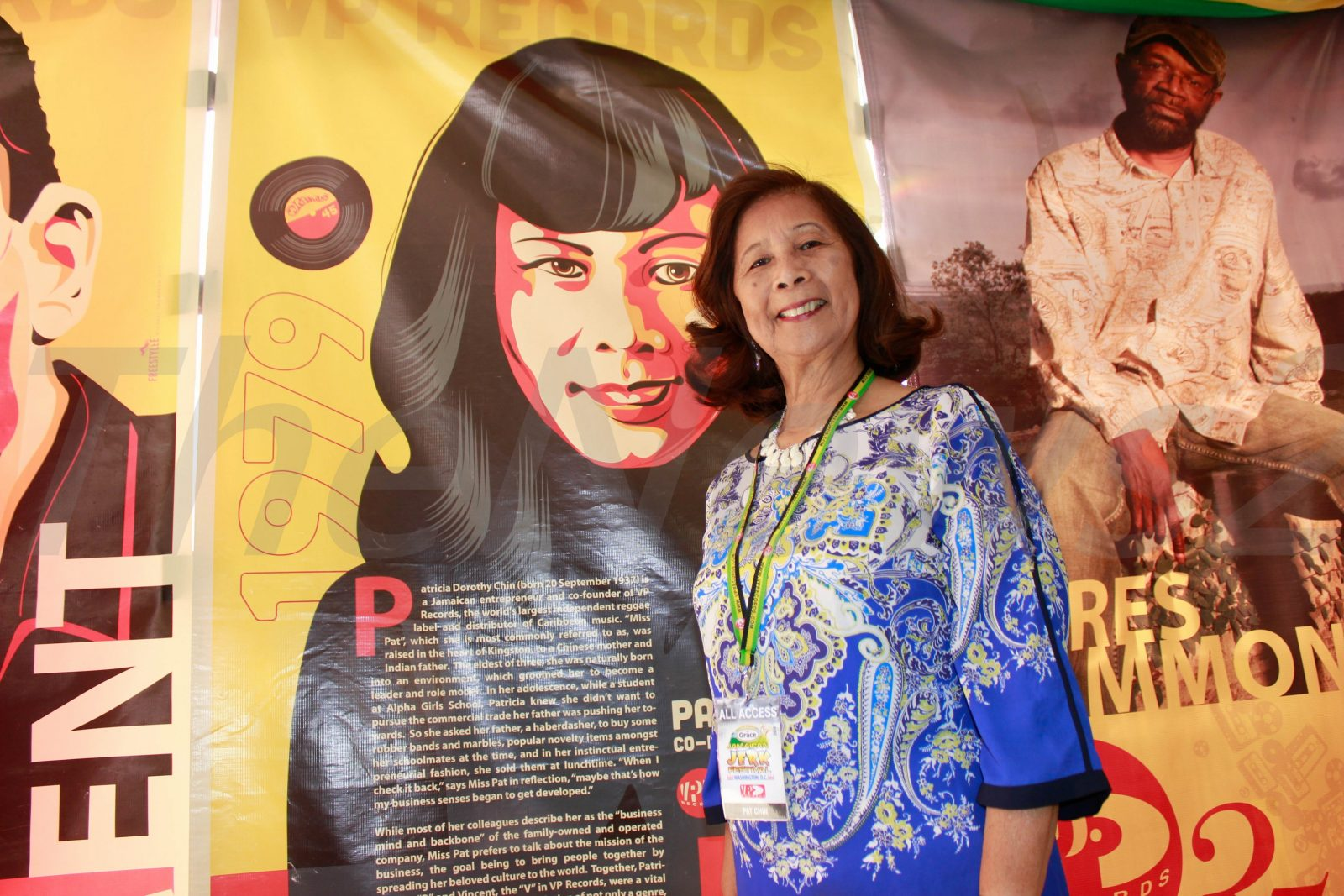 Patricia Chin-Co Founder of VP Records at 1st Grace Jamaican Jerk Festival-Washington DC