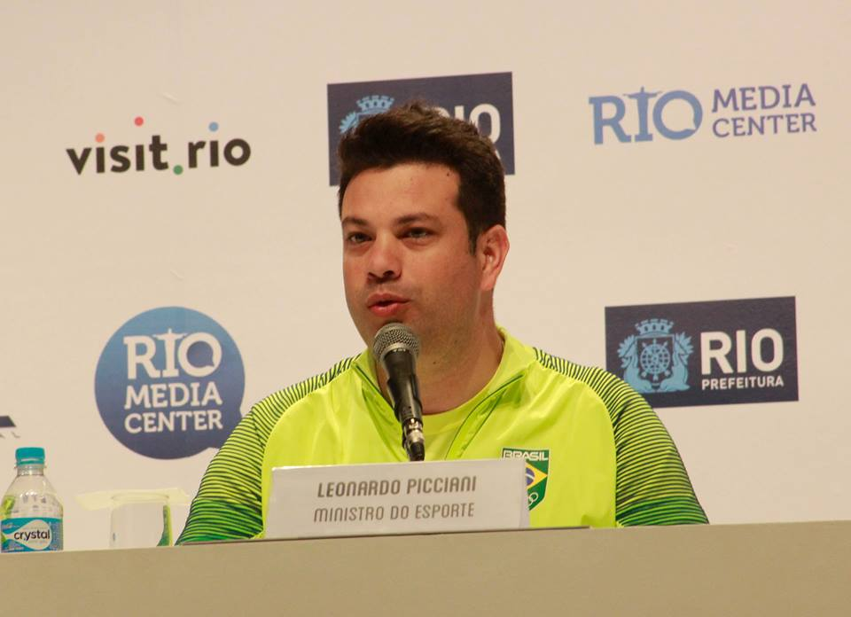 Minister of Sports of Brazil  makes an update of Rio 2016 Olympic Games