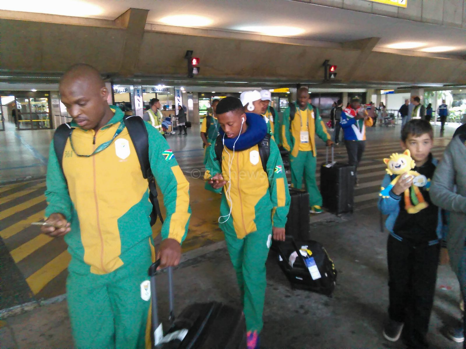 South African Olympic Soccer Team arrives in Sao Paulo-Rio 2016