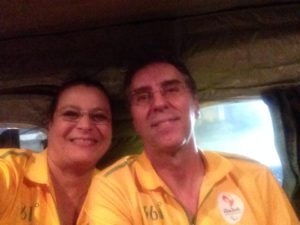 Rio 2016 AAD General Manager Carlos Oliveira and his wife Evelyn Vidal