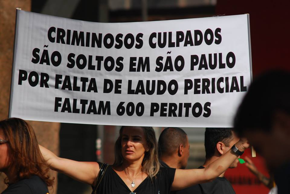 The Sao Paulo Police Protests as they are scrapped; lacked effective and adequate equipments.