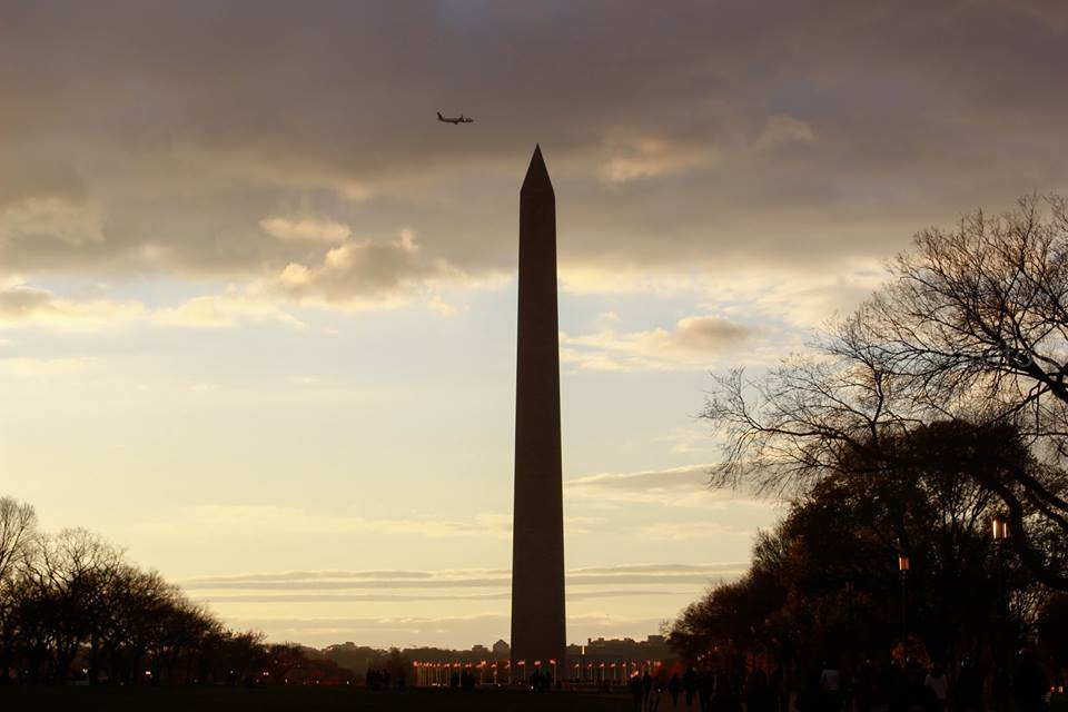 Sunset at the National Mall-Washington DC