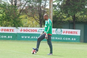 Goalkeeper Jailson during training