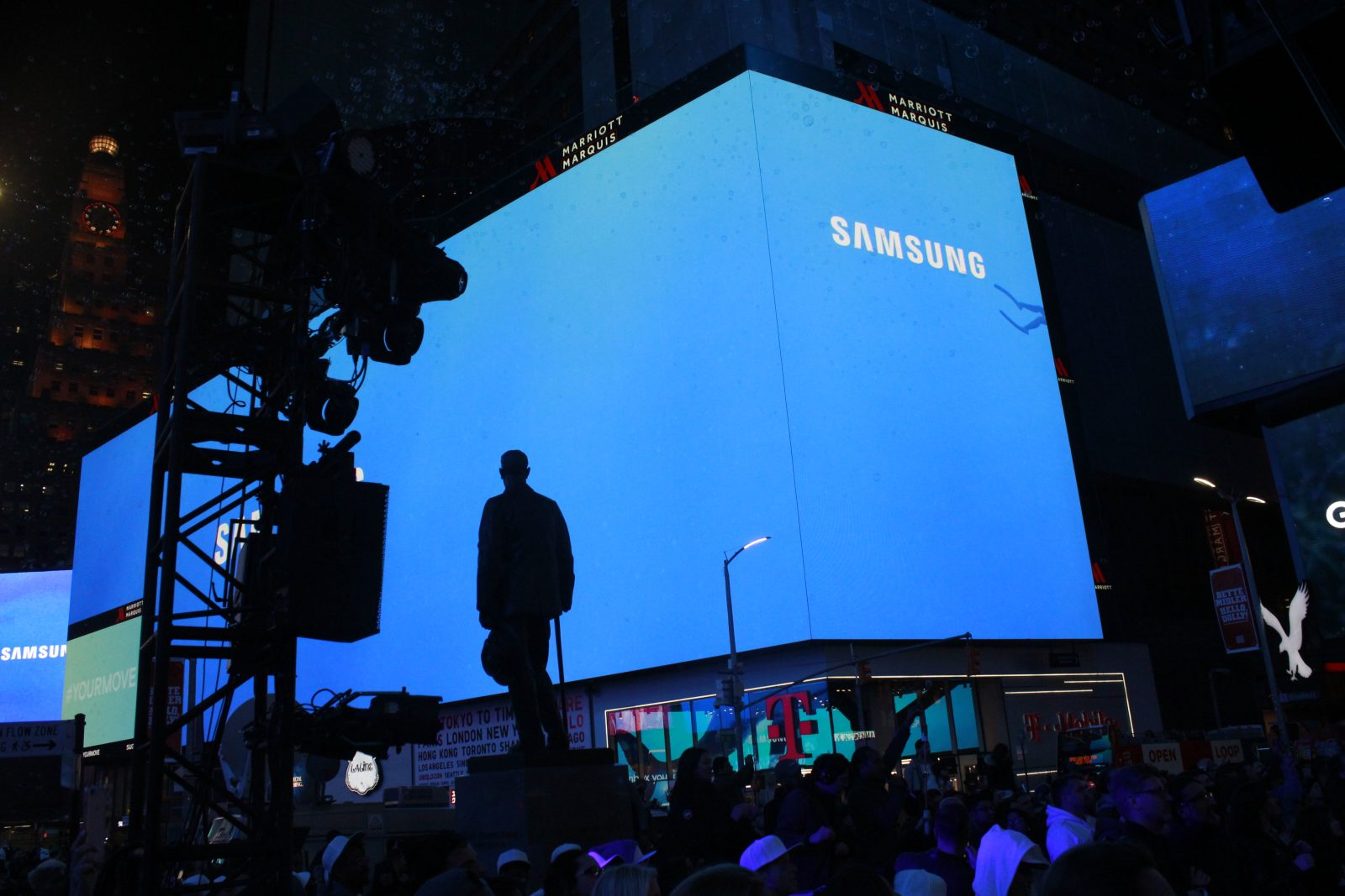 Filming of Samsung Galaxy 8-Times Square-New York