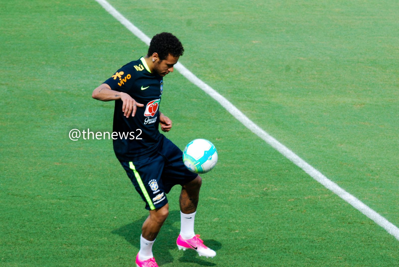 Neymar Jr trains in Sao Paulo with the Brazilian Soccer Team
