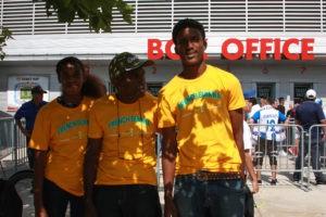 French Guiana`s fans