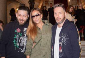 Fabio Souza (L)Designer, Sabrina Sato (M) Brazilian TV Hostess ,Alexandre Herchcovitch (R) Designer