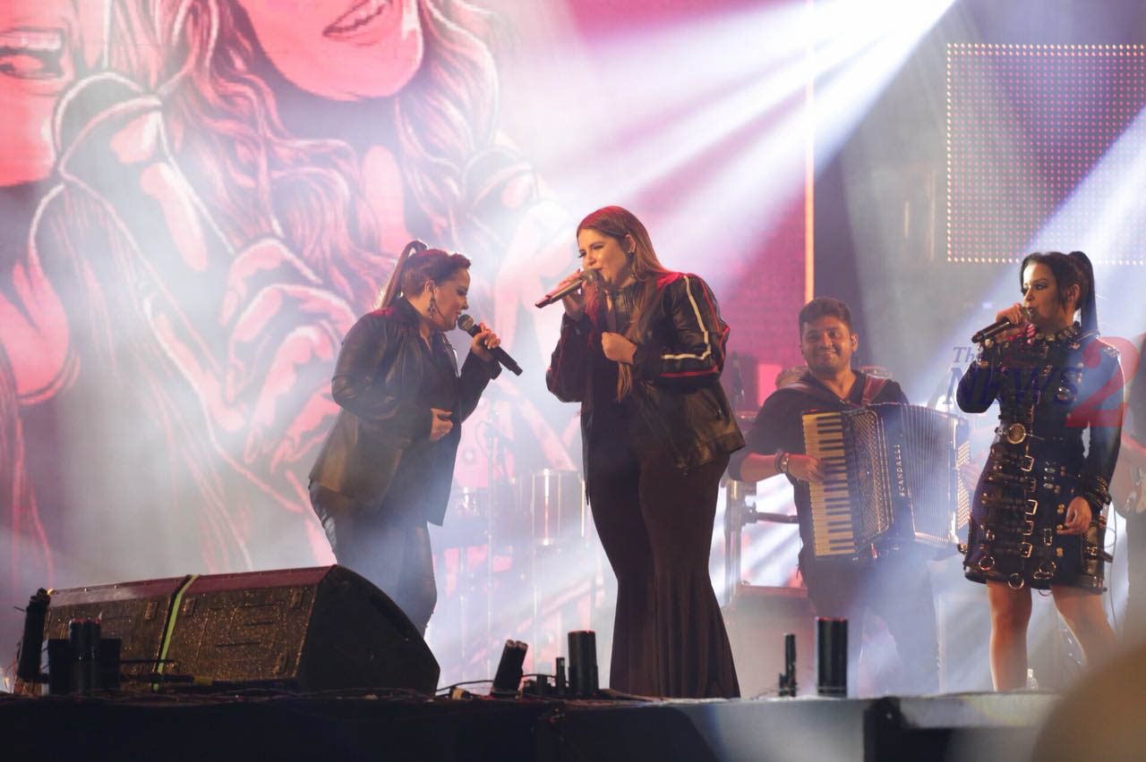Maiara & Maraisa & Marilia Mendonça performs at Jaguariuna Rodeo Festival-Sao Paulo