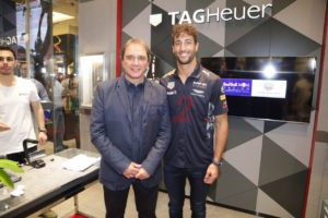 Reginaldo Leme with Daniel Ricciardo