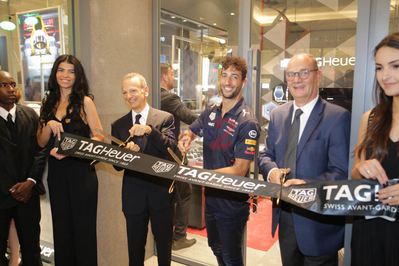 Daniel Ricciardo-Formula 1 Driver, Inaugurates TAG Heuer Boutique-Sao Paulo