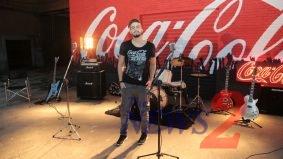 Luan Santana participates in the Launching of Coca Cola Tennis in Sao Paulo