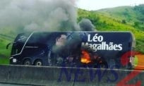 Brazilian Sertanejo Singer,Léo Magalhães' bus caught fire