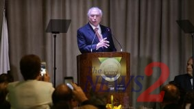 Brazilian President Michel Temer honored in Sao Paulo