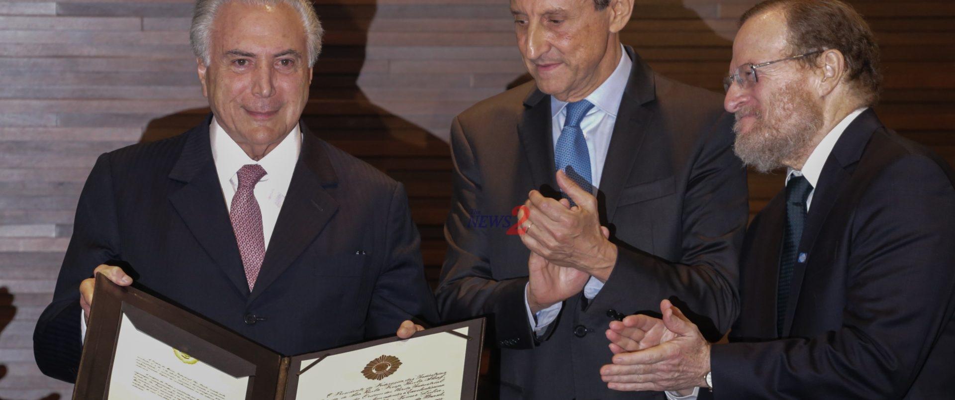 Brazilian President Michel Temer Receives An Award