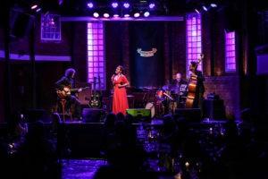"Mafalda Minnozzi with Thiago ""big"" Rabello(Drums) Sidiel Vieira (Bass) & Paul Ricci (Guitar)"
