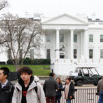 Donald Trump abruptly escorted to Oval Office because of shooting at the White House..